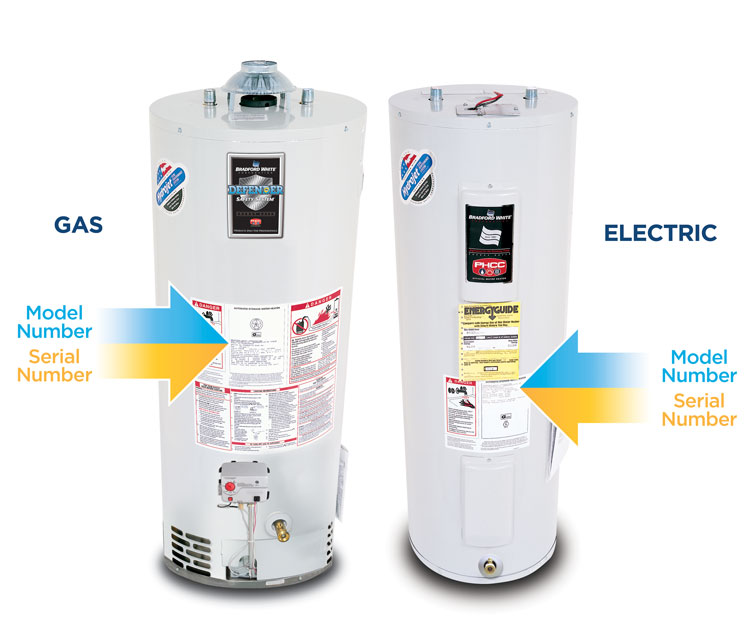 Locate Your Water Heater Model Serial Number Bradford White