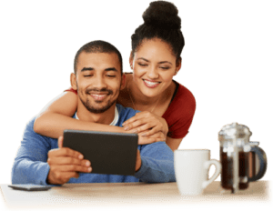List Your Business Couple Searching Ipad